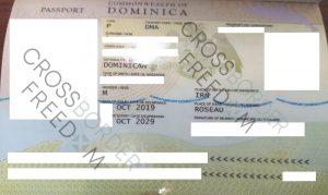 دریافت پاسپورت دومینیکا