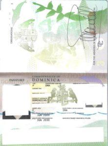 پاسپورت صادر شده دومینیکا